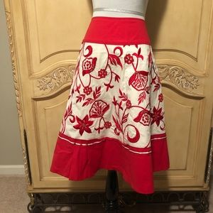 Basil and Maude Anthropologie skirt